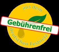 Gebührenfrei aus dem deutschen Festnetz anrufen!