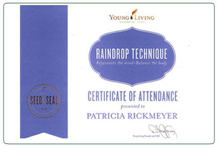 Certificate of Attendance - Raindrop Technique®